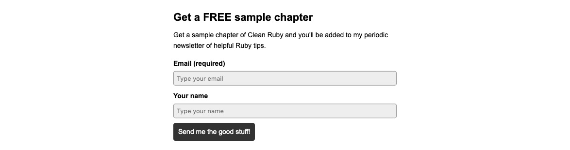 Not wanting to make a choice between the two packages, the visitor is offered a way out with a free sample chapter