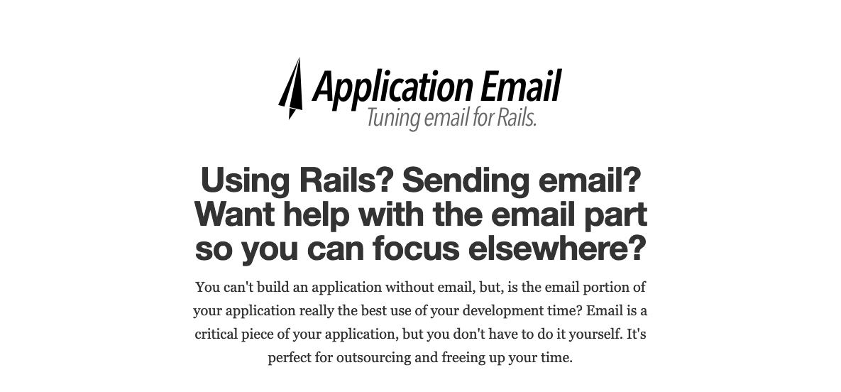 Top of the page for applicationemail.com
