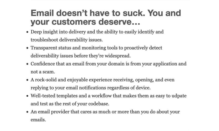 Garrett Dimon's applicationemail.com uses You and your customers deserve…