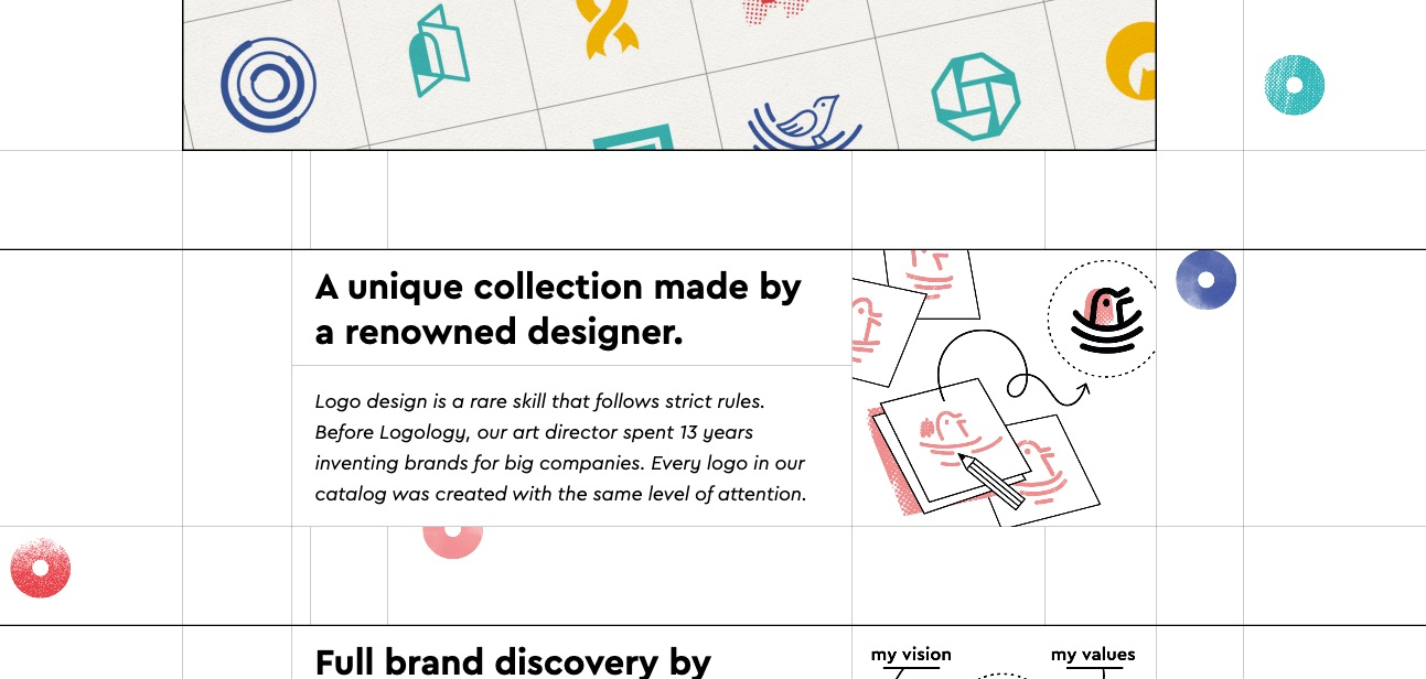 More logo styles and a note about the designer's experience